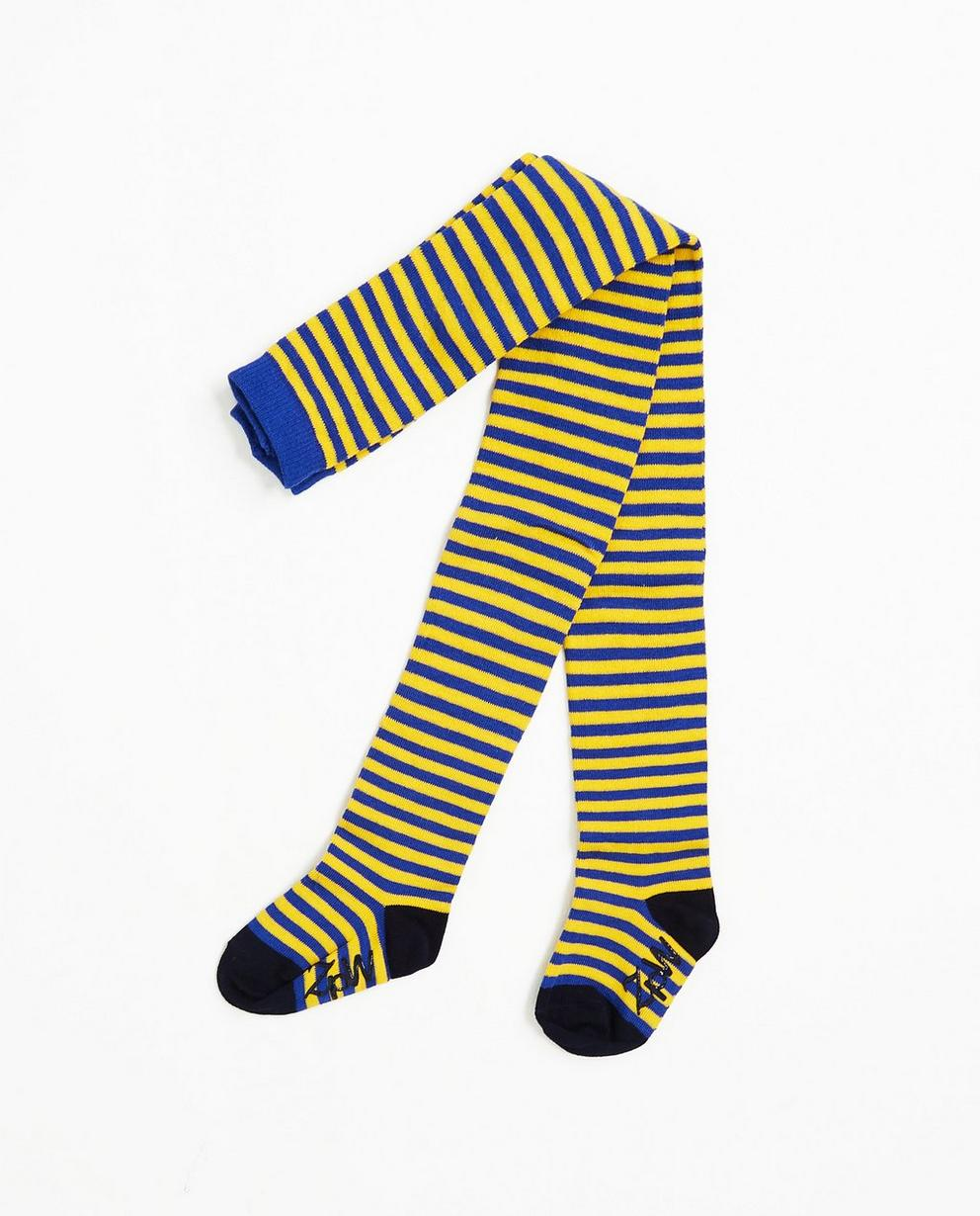 Collant rayé - jaune et bleu, ZulupaPUWA - ZulupaPUWA